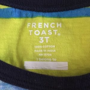 French Toast Shirts & Tops - 3T Reverse Print Tank Cute Toddler Boy